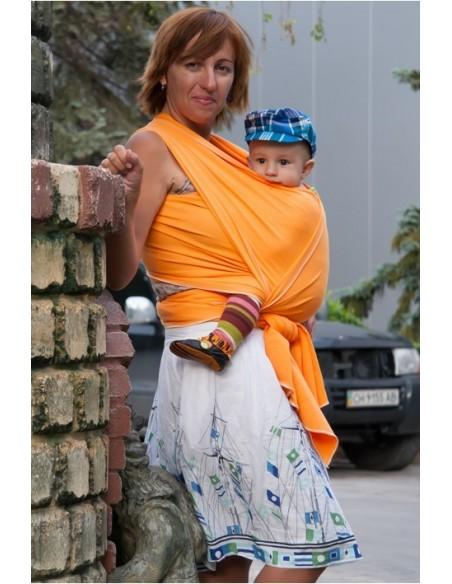 Слинг-шарф трикотажный Мороженное оранж