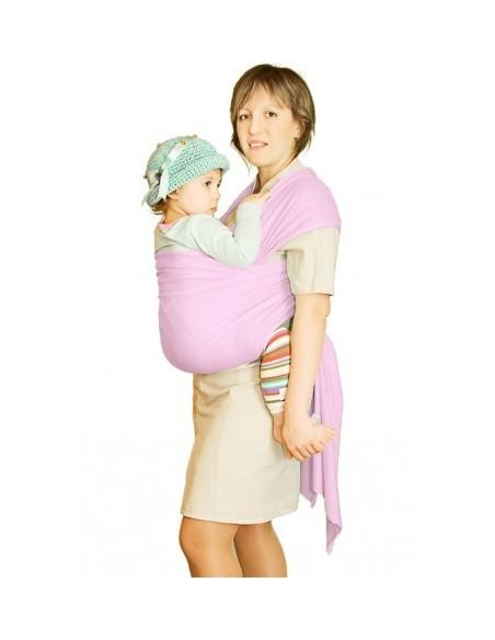 Слинг-шарф трикотажный Мороженное розовый