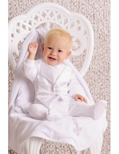 Набор крестильный для мальчика (комбинезон)