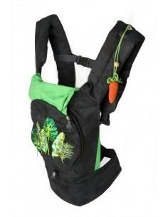 Эрго-рюкзак My baby - Черный с зеленым ( с сеточкой)