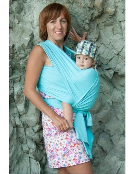 Слинг-шарф трикотажный Мороженное бирюза