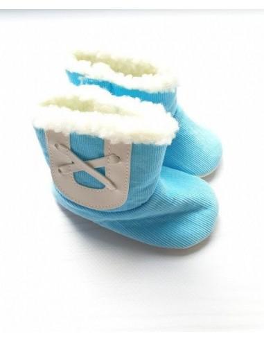 Пинетки-сапожки голубые Funny