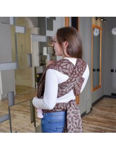 Жаккардовый слинг-шарф...