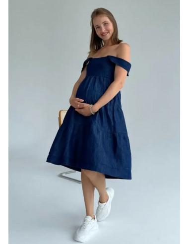 Сарафан для беременных Tobe синий
