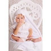 Набор крестильный для девочки лен без крыжмы
