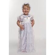 Набор крестильный для девочки с гипюром белый